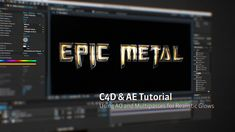 C4D and After Effects Text Titles Tips: Glows and Ambient Occlusion
