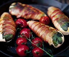 Low FODMAP Recipe - Pancetta chicken wraps http://www.ibssano.com/low_fodmap_recipe_pancetta_chicken_wraps.html
