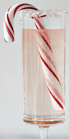"Peppermint White Christmas "" use a splash of White Creme de Cocoa, chilled champagne, and of course a candy cane for garnish. it's a Peppermint White Christmas you will want to sip again and again. Cheers to a very merry Christmas! Candy Cane Christmas, Christmas Goodies, Christmas Treats, White Christmas, Merry Christmas, Xmas, Christmas Recipes, Christmas Cocktails, Holiday Cocktails"