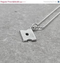 On Sale Razor Blade Necklace Sterling Silver by GirlBurkeStudios, $22.50