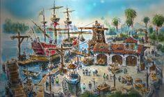 "PHOTOS: Shanghai Disneyland releases new concept art for ""Treasure Cove"""