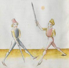 Lecküchner, Hans: Kunst des Messerfechtens Nordbayern, 1482 Cgm 582 Folio 374