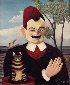 ムッシュXの肖像(ピエールロティ), キャンバスに油彩 バイ Henri Rousseau (1844-1910, France)