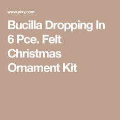 Bucilla Dropping In 6 Pce. Felt Christmas Ornament Kit