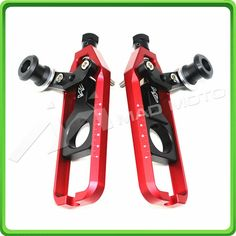 (89.99$)  Know more  - MAD MOTO free shipping CNC motorcycle 0506 Chain Adjusters fit for YAMAHA YZF R1 2004 2005 2006 red/black Color