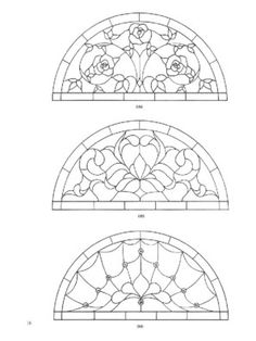 page24 Dover's door stained glass patterns