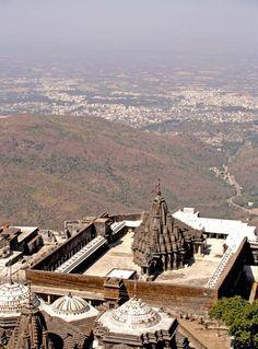 Junagadh, Gujarat, as seen from Neminath Temple on Mt Girnar