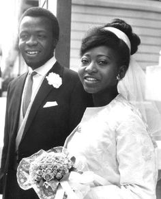 Prince Ademola of Nigeria and Layide Doherty wedding in London on 29 Aug 1964 1960s Wedding, Vintage Wedding Photos, Vintage Photos, Vintage Weddings, Royal Wedding Gowns, Royal Weddings, Black Weddings, Black Royalty, African Royalty