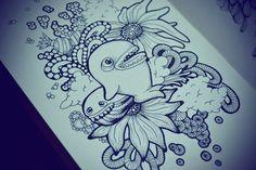 Moleskine doodles / sushibird