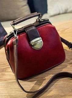 Fashion Handbag Quality Handbags Directly From China Women Suppliers 2017 New Korean Retro Color Doctor Bag Lock