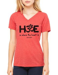 H-OM-E Is Where the Heart Is - Ladies V Neck Relaxed