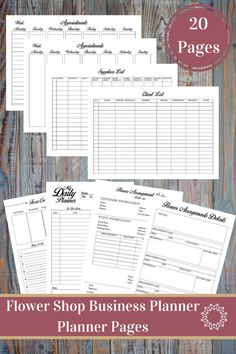 Flower Shop Business Planner and Manager, Small Business Plan, Financial and Management Printables, Trackers, Personal And Business Forms  This Flower shop Business Planner Bundle is for people who love having an organized business. With the help of these printable forms it will be an easy job. Keep track of your weekly appointments, events, bookings with 2 types client scheduling forms, organize your time and prepare for productivity and stay on top of your finances. Selling flowers was…