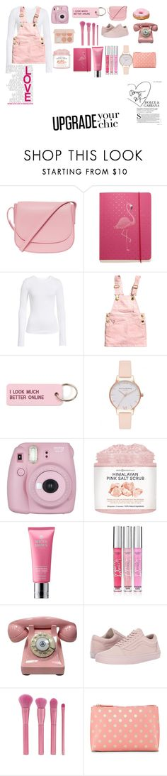 """Pink out!!"" by thankins101 ❤ liked on Polyvore featuring Mansur Gavriel, Go Stationery, BP., H&M, Various Projects, Olivia Burton, Fujifilm, Molton Brown, Victoria's Secret and Vans"