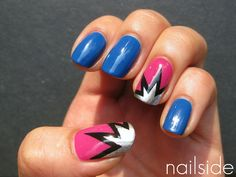 I usually think accent nails look tacky, but this would be fun to wear to comic-themed events