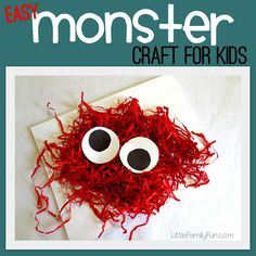 Little Family Fun: Easy Monster Craft! We love this great idea - perfect for Halloween! Halloween Activities For Kids, Activities For Boys, Craft Activities, Activity Ideas, Craft Ideas, Craft Box, Classroom Activities, Crafts For Boys, Toddler Crafts