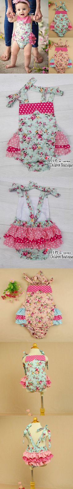New Shabby Baby Rompers,Cotton Cake Smash Outfit,Ruffle Newborn Bubble Romper,#P0155
