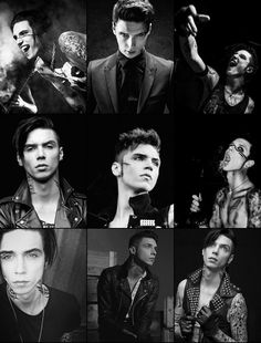 Andy Biersack's collage