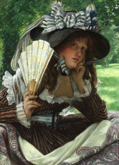 Jeune Femme à l'Éventail by James Tissot