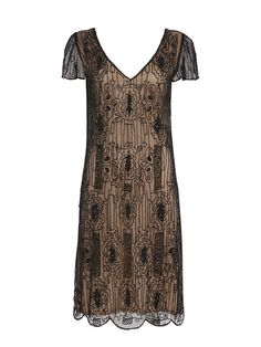 UK26 US22 AUS26 Black Nude Vintage inspired 1920s by Gatsbylady