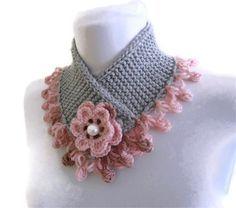 cuello punto cálido, invierno, tejido a mano, regalo, moda, color de rosa y…