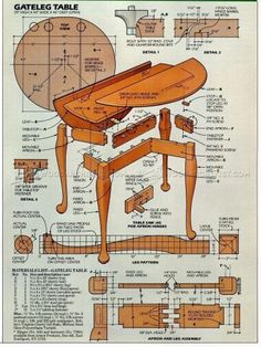 #1602 Drop Leaf Table Plans - Furniture Plans