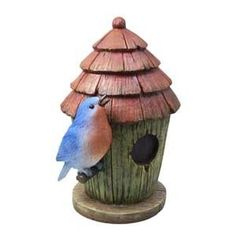 Isn't this little Solar Blue Bird with Birdhouse decoration by Woods lovely? It's available at Central for our great everyday low price! The white LED solar lights inside the bird glow at night. The 1-AA rechargeable battery (included) runs for 8 hours on a single charge. With no wiring required, the solar fixture gathers energy from the sun during the day then automatically lights up at dusk. Perfect for gardens, walkways, steps, etc., it's safe even near water! Pretty and practical; perfect! Power Led, Solar Power, Dog Houses, Bird Houses, Indestructable Dog Bed, Best Bird Feeders, Pet Gate, Patio Lighting, Backyard Birds