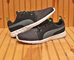4a6fee272558 2016 Puma Carson Runner Glit Size 10 - Black Grey Green - 188052 01