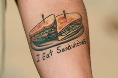 US Army PFC Hauser's tattoo of sandwiches, delicious.