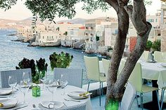 View from Oneiro restaurant, Syros, The Cyclades, Greece