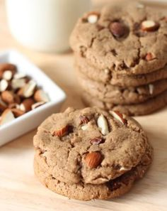 Texanerin Baking: 100% Whole Grain Almond Butter Maple Cookies