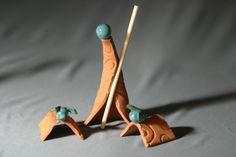 Handcrafted Pottery Nativity Set Nativity Scene by Potterybydaina