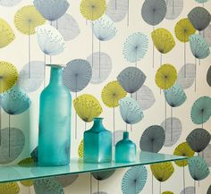 Dandelion wallpaper from Sanderson - for the dining room cove?