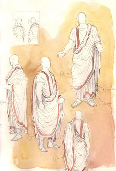 Roman toga reference sheet, republican period by =Gold-Seven on deviantART