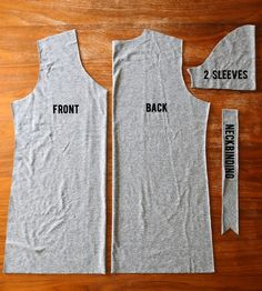 How to sew a v-neck t-shirt. Free sewing pattern and tutorial.