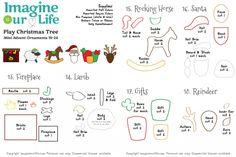 Mini Advent Ornaments Set Four