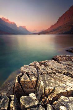 St. Mary's Lake, Glacier National Park, Montana, USA