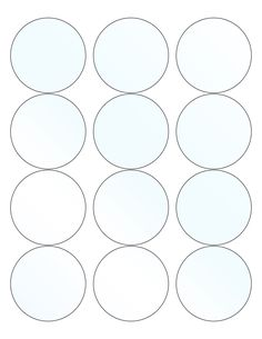This Printable Paper Has 12 2 5 Inch Circles For Making