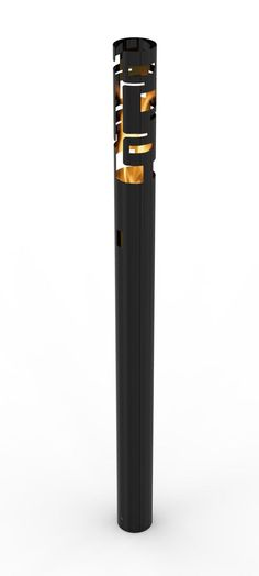 Skyline Bio Ethanol Outdoor Torch In Black