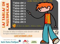 http://lacasetaespecial.blogspot.com.es/2014/05/repassem-les-taules-de-multiplicar.html   La Caseta, un lloc especial: Repassem les taules de multiplicar