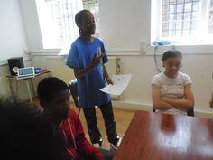 Joseph leading his first workshop!