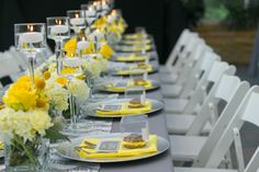 A Chic Yellow & Gray Wedding in Atlanta