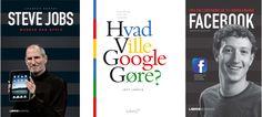 3 Gratis lydbøger der varmt kan anbefales omhandlende henholdsvis Steve Jobs, Google og Facebook. Steve Jobs, Facebook, Film, Reading, Music, Google, Books, Movie, Livros