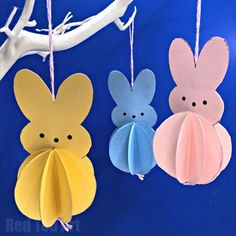Paper Crafts are super versatile and perfect for the classroom. Take a look at our easy Easter Paper Activity: Printable Peeps Decorations. Peeps are rapidly becoming the Easy Easter Crafts, Paper Crafts For Kids, Crafts For Kids To Make, Craft Activities For Kids, Paper Easter Crafts, Rabbit Crafts, Bunny Crafts, Easter Tree Decorations, Paper Decorations