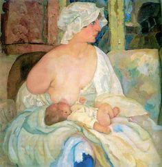 Борис Григорьев Мать+(жена+художника+с+сыном).jpg (1181×1217)
