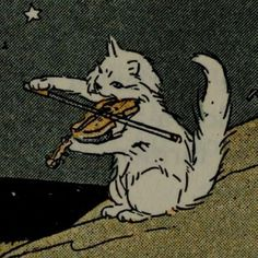 Car violin viola cow jumped over the moon riddle illustration white kitten cartoon Inspiration Art, Art Inspo, Arte Horror, Grafik Design, Aesthetic Art, Aesthetic Memes, Oeuvre D'art, Cat Memes, Belle Photo
