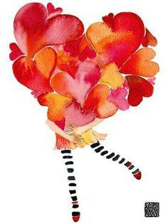 Two free crochet bordersAnabelia craft design: Two free crochet borders Little JUGGLER 11 original art doll ornament found object I Love Heart, Happy Heart, Hello Heart, Heart Art, Happy Saturday, Happy Friday, Happy Weekend, Design Crafts, Illustration Art