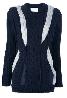 Agressia Fashion | NWT 3.1 PHILLIP LIM WHITE NAVY BLUE LAYERED CABLE KNIT SWEATER SZ M US 8 | Online Store Powered by Storenvy  Posted to the Stufflicious.com community storefront by agressia. Buy it directly from agressia.storenvy.com for $359.99 today. #Sweaters #Cardigans #Tops #Womens #Apparel #Fashion #Style #Cute #Style