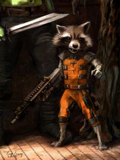 Rocket Raccoon Fan Art Two