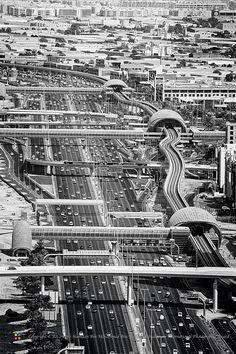 Sheikh Zayed Road & Metro, Dubai, UAE