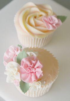 Frilly rose cupcake